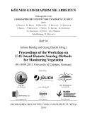 UAV-based Remote Sensing Methods for Monitoring Vegetation - proceedings